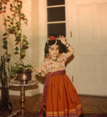 The writer disguised as a little Pakistani village girl